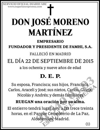 José Moreno Martínez